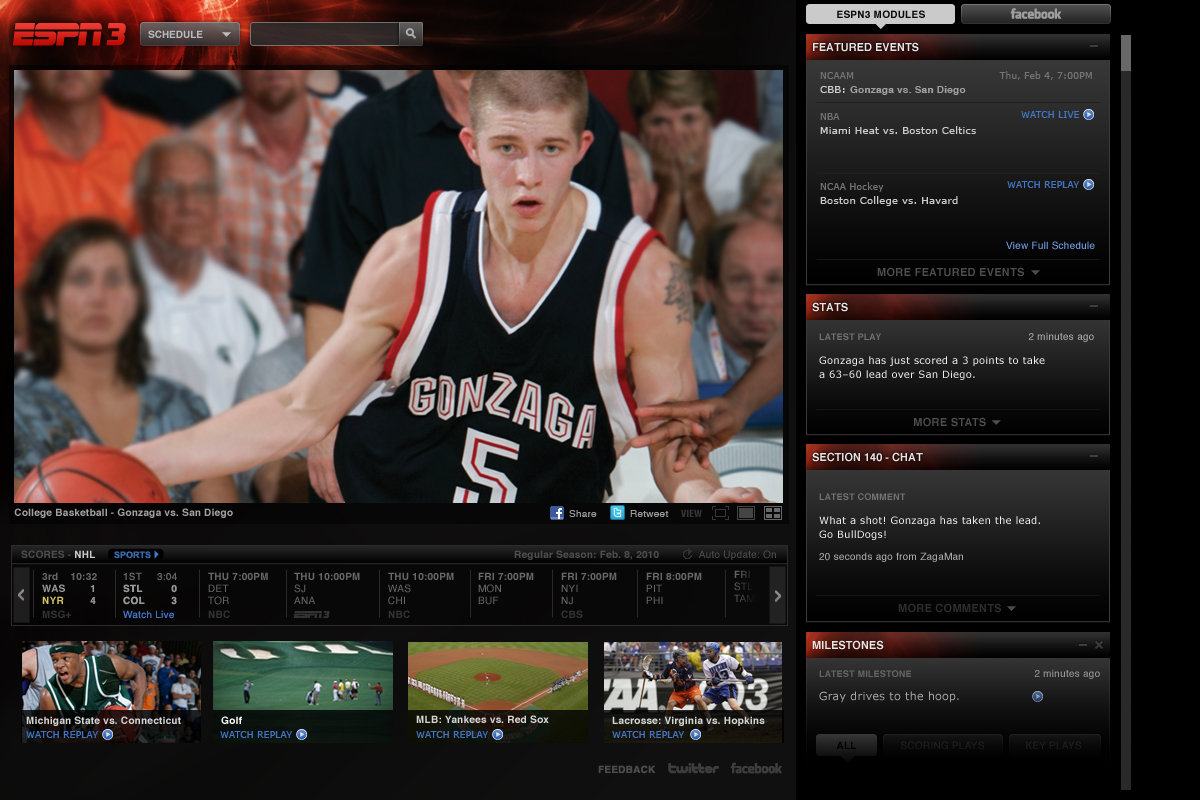 ESPN3.com Now Available to Direct Communications' Broadband ...