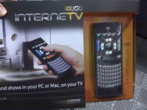 IGUGU TV is an internet TV interface that uses a very handy remote.