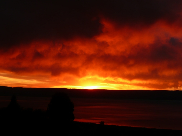 Sandra Allen-early morning sunrise over Bear Lake, from my front yard.