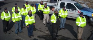 Directcom construction crew with new reflective jackets so they won't be run over by any jogging strollers in Eagle Mountain.