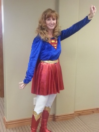Diane as Supergirl