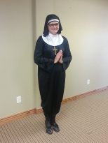 Kristy as a nun