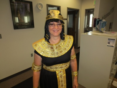 Lori as Cleopatra.