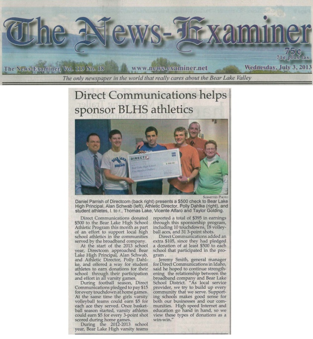 News-Examiner July 3, 2013