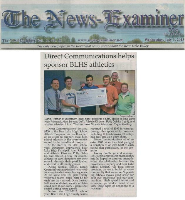 News-Examiner July 3, 2013