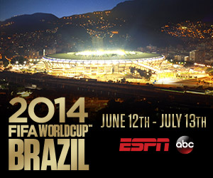 You can watch the 2014 FIFA World Cup™ online from anywhere in the U.S. on ESPN3 available on WatchESPN with Directcom High-Speed Internet.